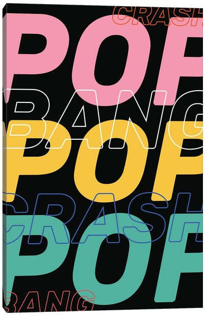 Crash Bang Pop Canvas Art Print