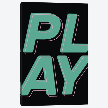 Play Canvas Print #TNS138} by The Native State Canvas Art