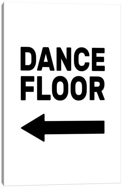 Dance Floor - Left Canvas Art Print