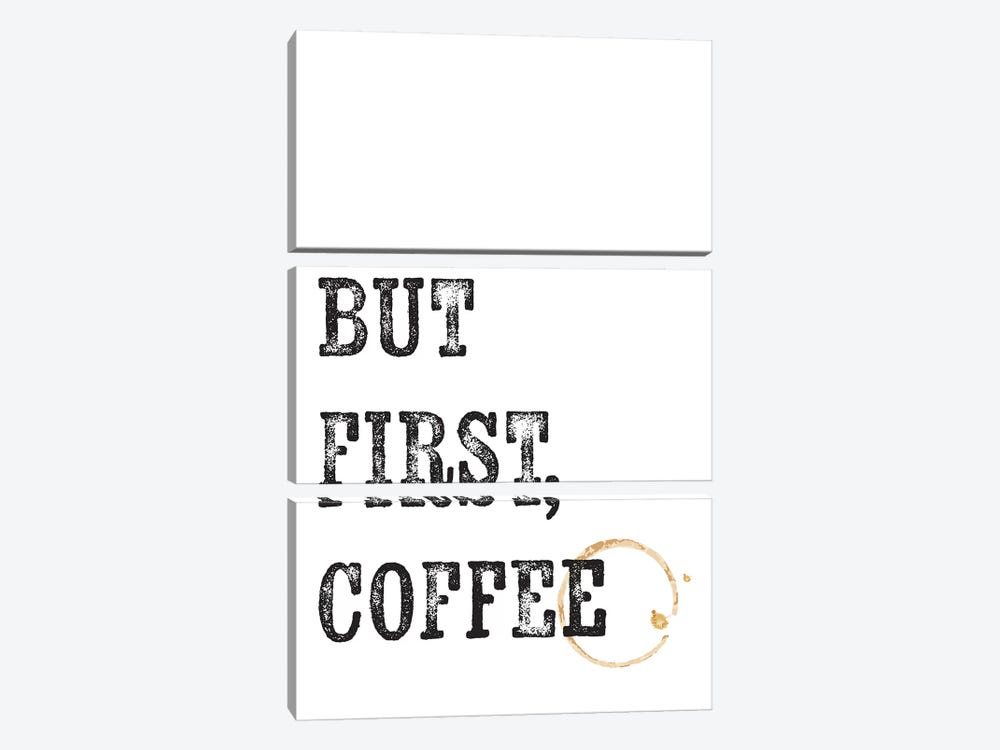 But First Coffee  by The Native State 3-piece Canvas Wall Art