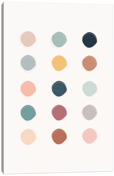 Colour Palette Canvas Art Print