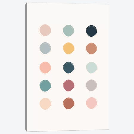 Colour Palette Canvas Print #TNS23} by The Native State Canvas Art Print