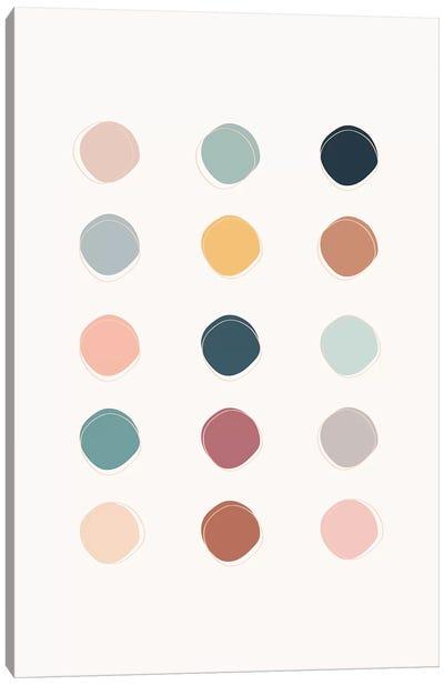 Colour Palette Canvas Art Print