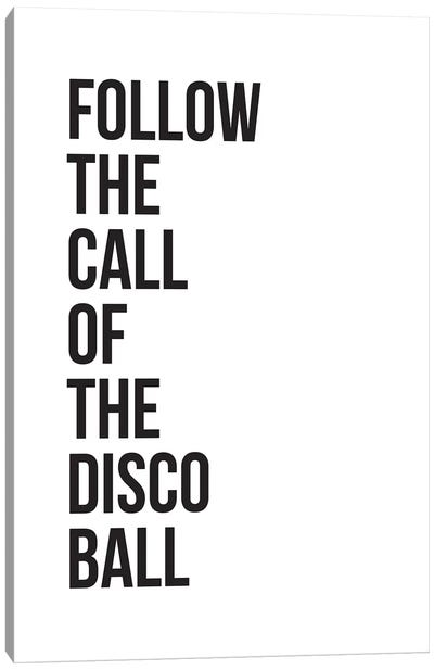 Disco Ball Canvas Art Print