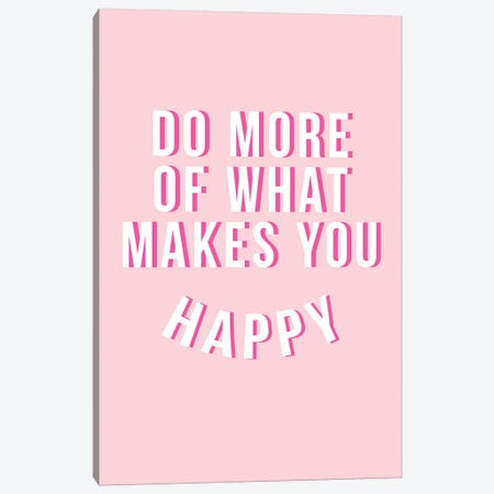 Do More Be Happy - Pink 3-Piece Canvas #TNS28} by The Native State Canvas Print