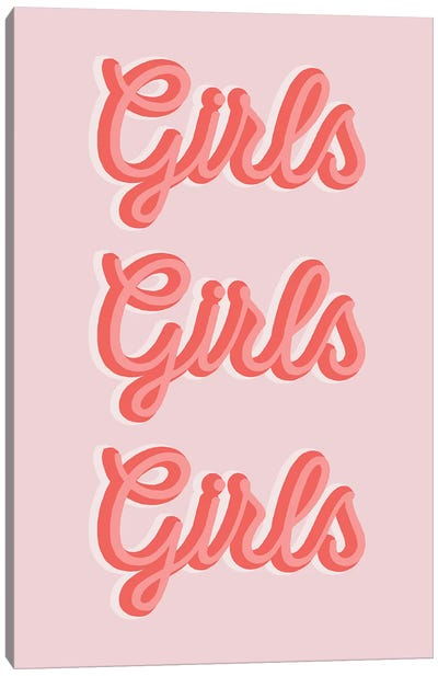 Girls Girls Girls Canvas Art Print
