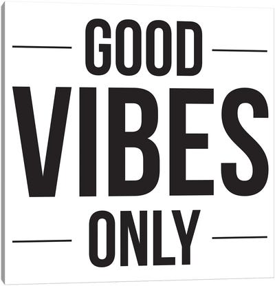 Good Vibes Only Canvas Art Print