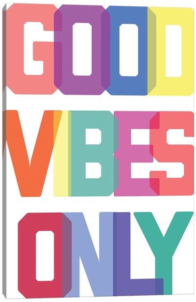 Good Vibes Only - Multicolor Canvas Art Print