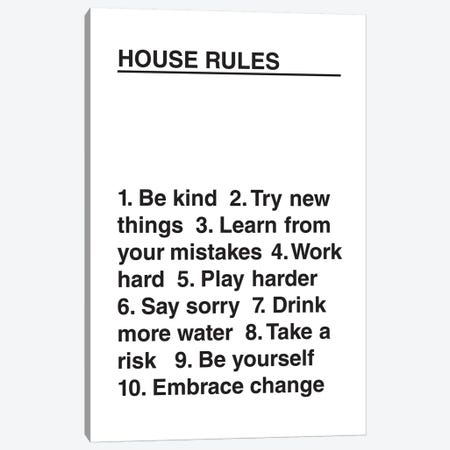 House Rules Canvas Print #TNS46} by The Native State Canvas Artwork