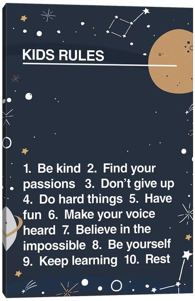 Kids Rules Canvas Art Print