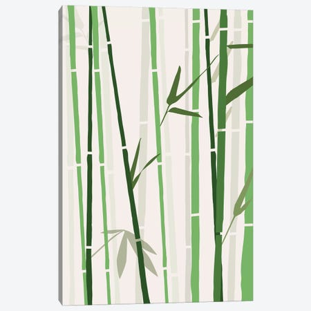 Bamboo Canvas Print #TNS5} by The Native State Canvas Art