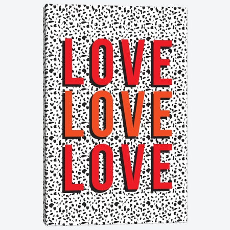 Love Canvas Print #TNS64} by The Native State Canvas Wall Art