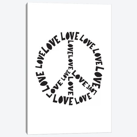 Love And Peace Canvas Print #TNS65} by The Native State Canvas Artwork
