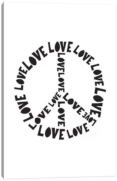 Love And Peace Canvas Art Print