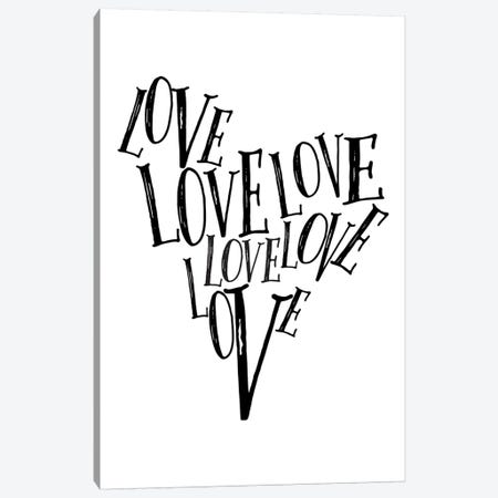 Love Heart Canvas Print #TNS66} by The Native State Canvas Wall Art