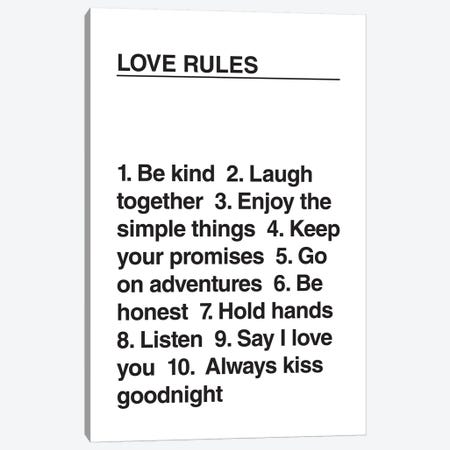 Love Rules Canvas Print #TNS68} by The Native State Canvas Art Print
