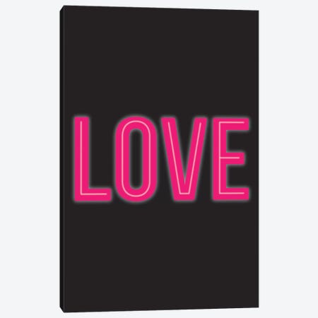 Neon Love Canvas Print #TNS73} by The Native State Canvas Artwork