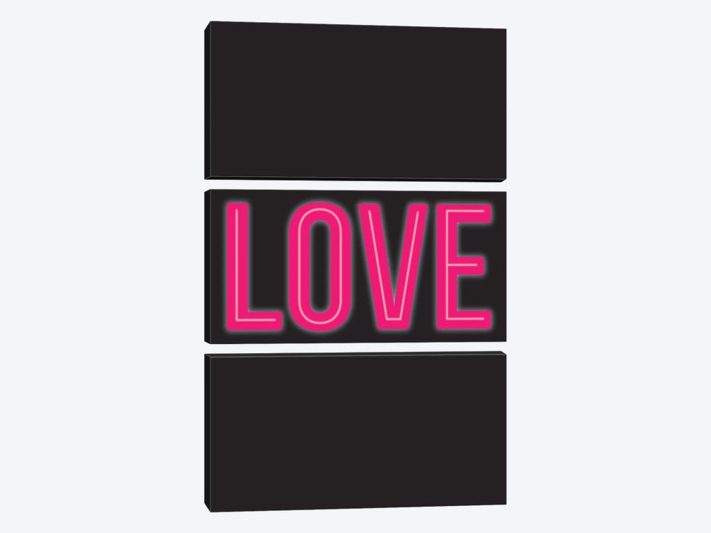 Neon Love by The Native State 3-piece Canvas Wall Art