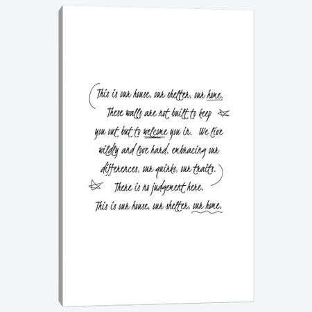 Our Home Canvas Print #TNS82} by The Native State Canvas Print