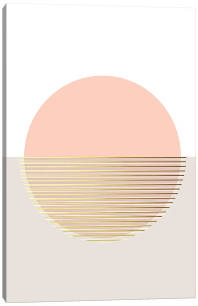 Peachy Skies Canvas Art Print