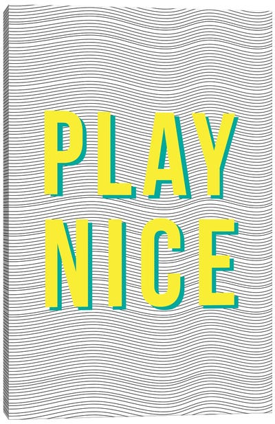 Play Nice Canvas Art Print