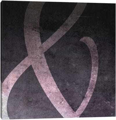 Film Negative Ampersand Canvas Art Print