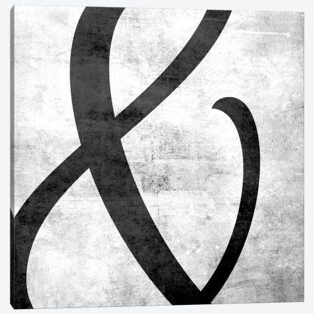 Scuffed Ampersand Canvas Print #TOA202} by 5by5collective Canvas Artwork