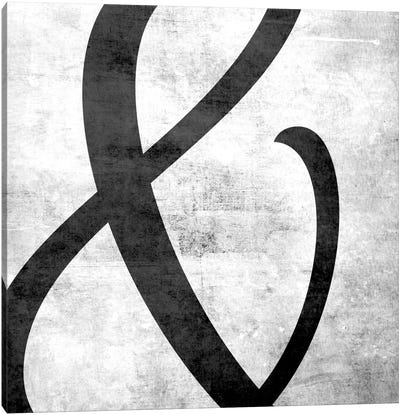 Scuffed Ampersand Canvas Art Print