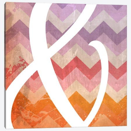 Blah Stain Ampersand Canvas Print #TOA203} by 5by5collective Canvas Art