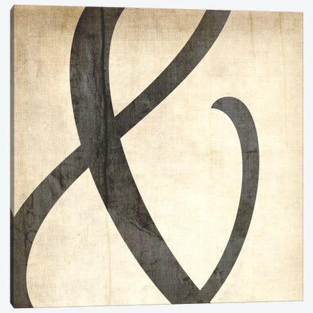 Bleached Linen Ampersand Canvas Print #TOA204} by 5by5collective Art Print