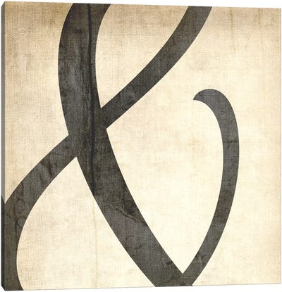 Bleached Linen Ampersand Canvas Art Print