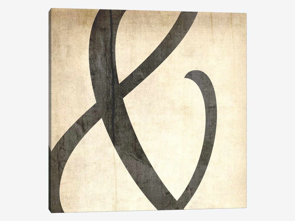 Bleached Linen Ampersand by 5by5collective 1-piece Canvas Art
