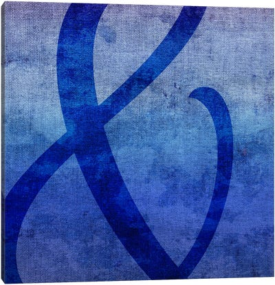 Blue to Purple Ampersand Canvas Art Print