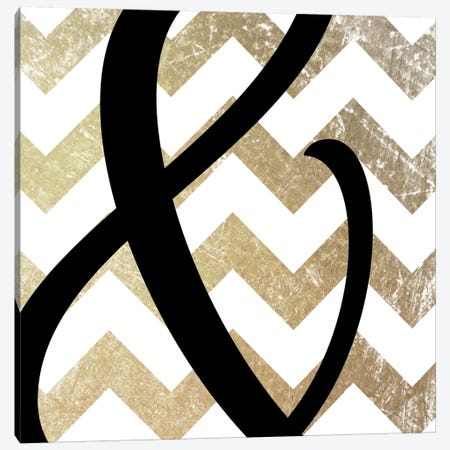 Gold Chevron Ampersand Canvas Print #TOA206} by 5by5collective Canvas Print