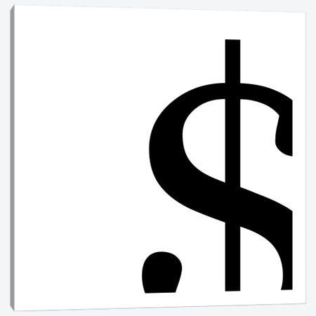 dollar sign2 Canvas Print #TOA20} by 5by5collective Canvas Art
