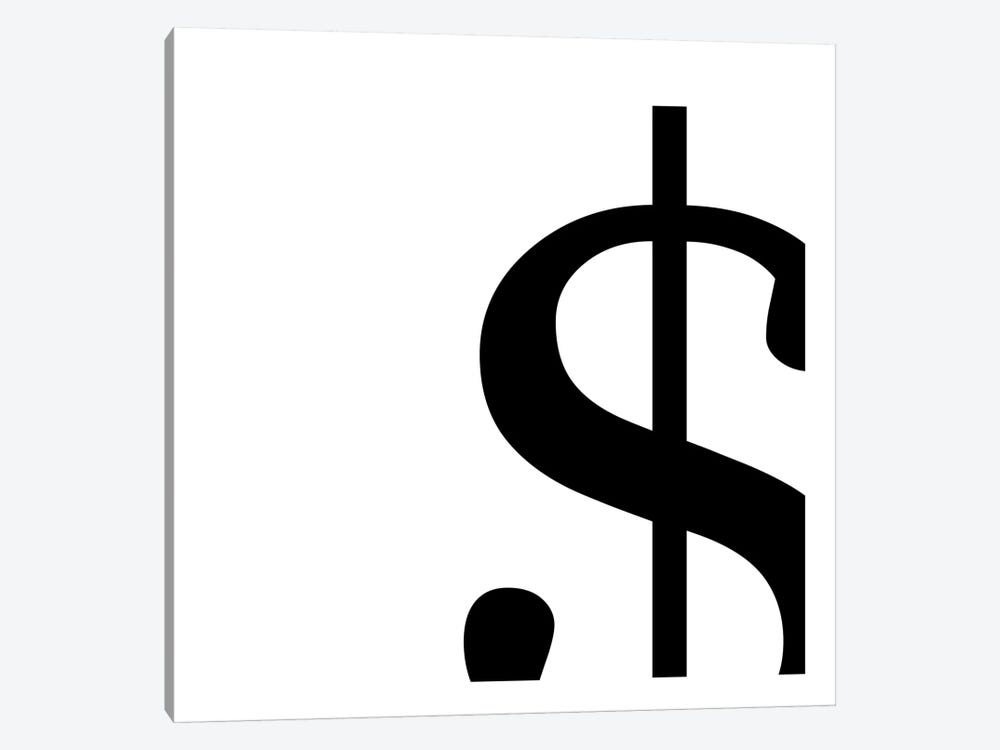 dollar sign2 1-piece Canvas Art