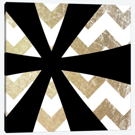 Gold Chevron Asterisk Canvas Print #TOA212} by 5by5collective Canvas Print