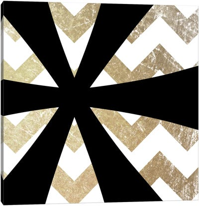 Gold Chevron Asterisk Canvas Art Print