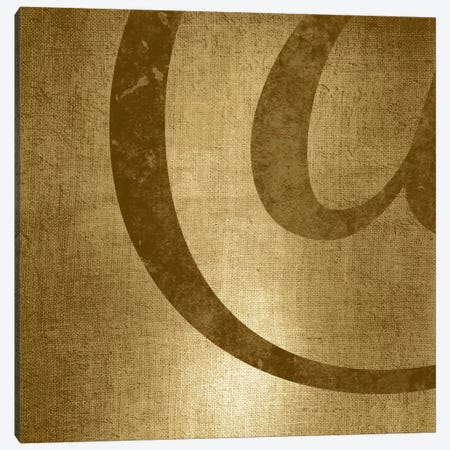 Gold Shimmer At-Sign Canvas Print #TOA213} by 5by5collective Art Print