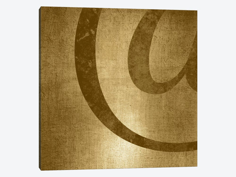 Gold Shimmer At-Sign by 5by5collective 1-piece Canvas Wall Art