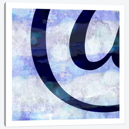 Hazy At-Sign Canvas Print #TOA214} by 5by5collective Canvas Wall Art