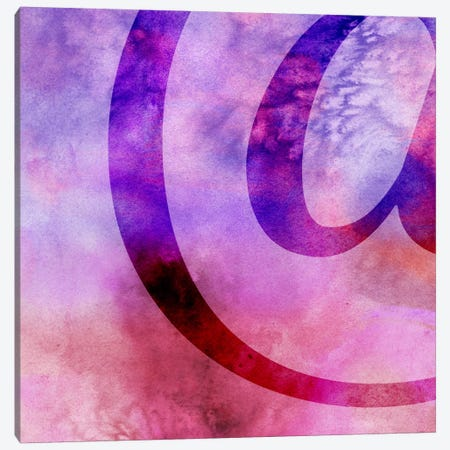 Purplish At-Sign Canvas Print #TOA217} by 5by5collective Canvas Art