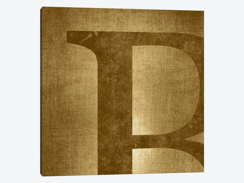 B-Gold Shimmer by 5by5collective 1-piece Canvas Artwork