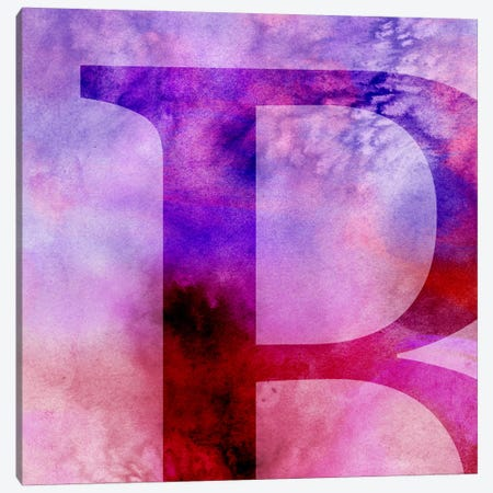 B-Purple Canvas Print #TOA223} by 5by5collective Canvas Wall Art