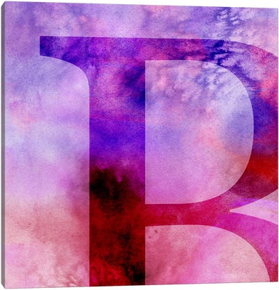 B-Purple Canvas Art Print