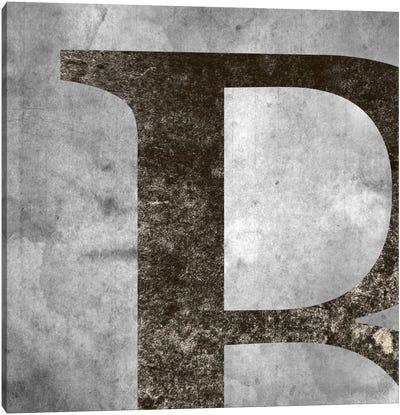 B-Silver Fading Canvas Art Print