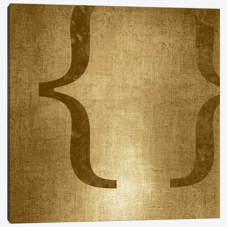 brackets-Gold Shimmer Canvas Print #TOA225} by 5by5collective Canvas Print