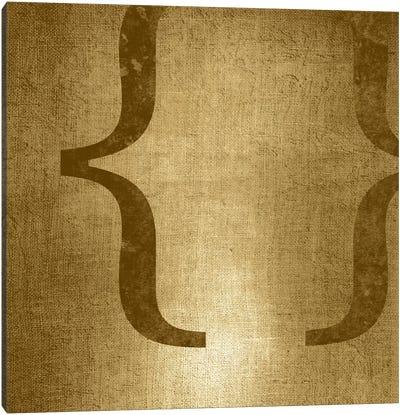 brackets-Gold Shimmer Canvas Art Print