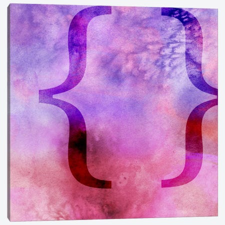brackets-Purple Canvas Print #TOA229} by 5by5collective Canvas Art