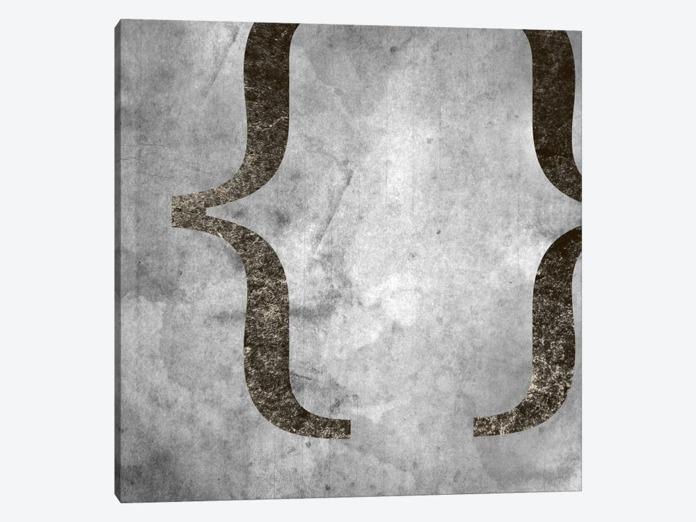 brackets-Silver Fading by 5by5collective 1-piece Canvas Print